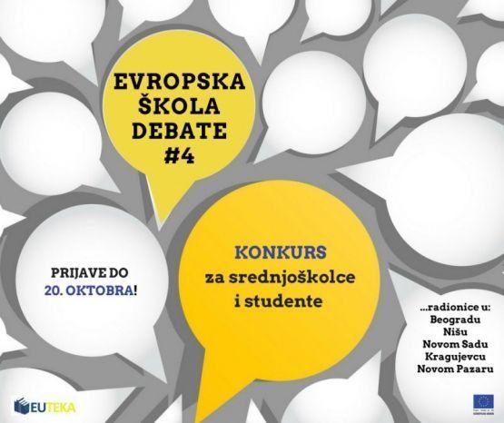"Otvoren konkurs za polaznike ""Evropske škole debate"