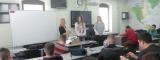 Prezentacija Fimek-a i Pravnog fakulteta za privredu i pravosuđe uz predavanje Snaga znanja u E- gimnaziji u Novom Sadu